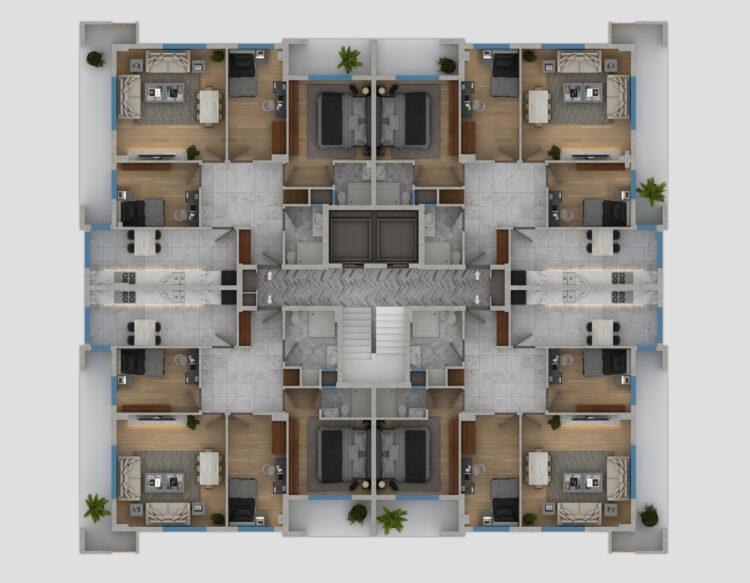 B Blok Kat Planı